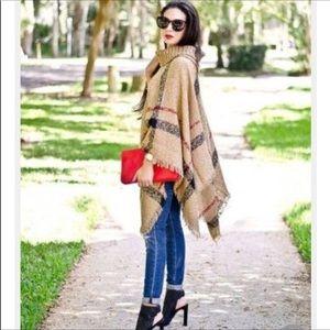 Jackets & Blazers - Burberry look a like poncho 😍